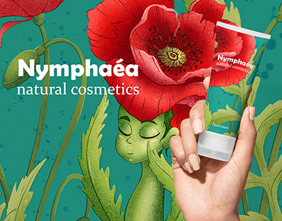 Nymphaea cosmetics | Illustrations and packaging design