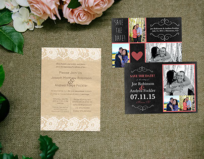 Wedding Invitation and Save the Dates