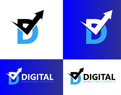 Digital marketing agency logo design