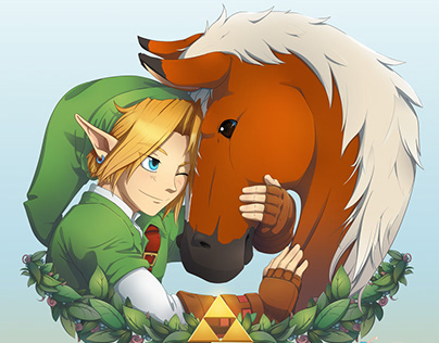 Link and Epona - Ocarina of Time