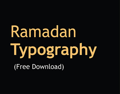 Ramadan Typography (Free Download)