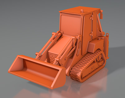 3d model of JCB crawler mini tractor Ver.2