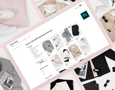Дизайн сайта для интернет магазина одежды