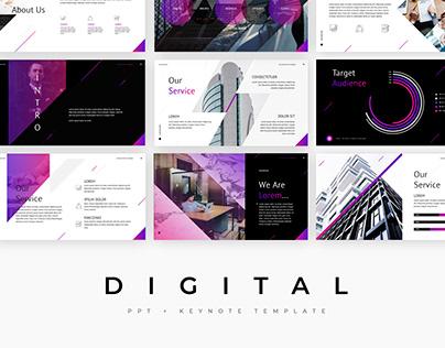 Digital - template presentation PowerPoint + Keynote
