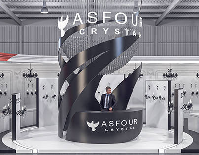"""""""CRYSTAL ASFOUR"""" Exhibition Stand Design"""