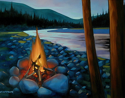 Fire on the River