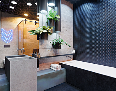 Bright bathroom for teen. Design with Martin architects