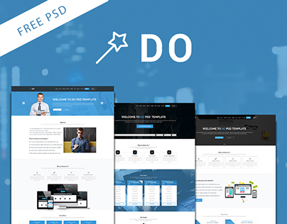 DO - One Page Free PSD Template