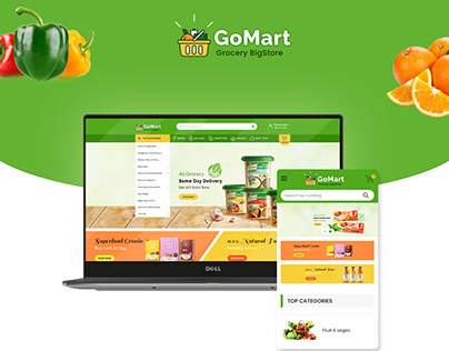 GoMart UX/UI Design For Online Grocery BigStore
