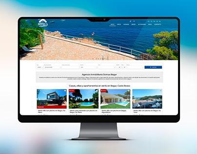 Página web de Domus Begur Serveis Inmobiliaris