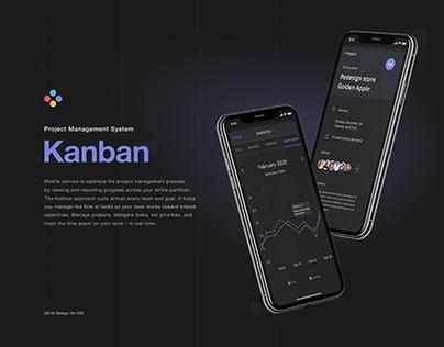 Kanban Project Management app. UI/UX