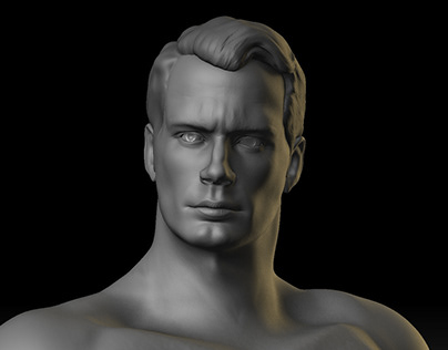 Henry Cavil -Man of Steel-Digital sculpting