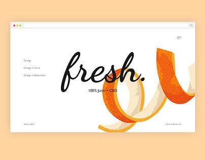 Website design for Fresh