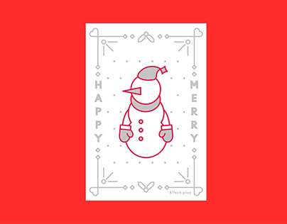 Letter press christmas card