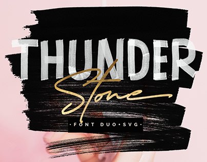 Thunder Stone Font Duo+Open SVG