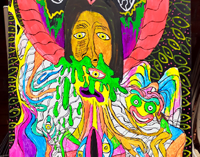 Spring 2021 Psychedelic Acrylic Paintings