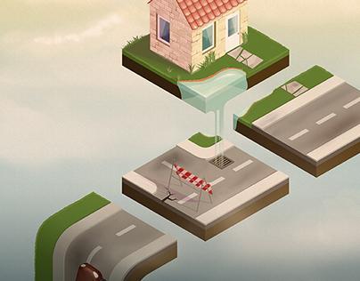 Isometric puzzle game