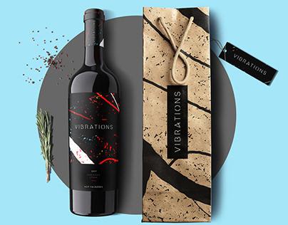 VIBRATIONS wine label & branding