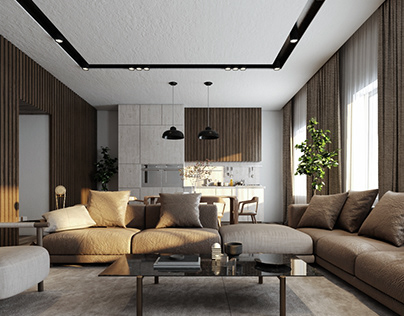 Visualization Design And Lighting For Interior Space