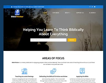 Bible Thinker // Web Design