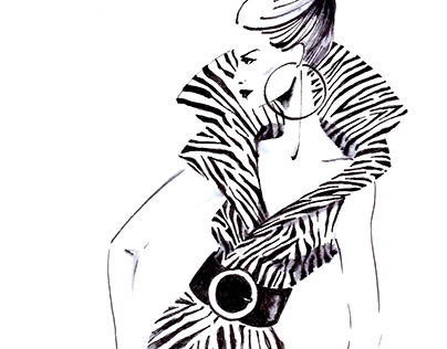 Woman in zebra print