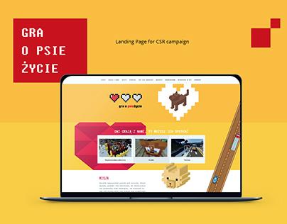 Gra o psie życie | Landing page