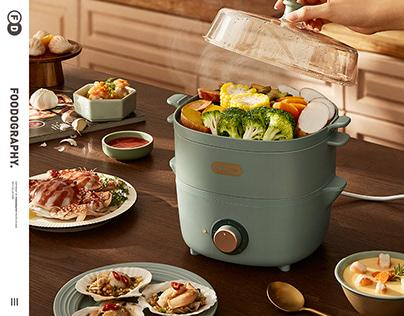 电商摄影 | 小熊电蒸锅Kitchen appliances ✖ foodography