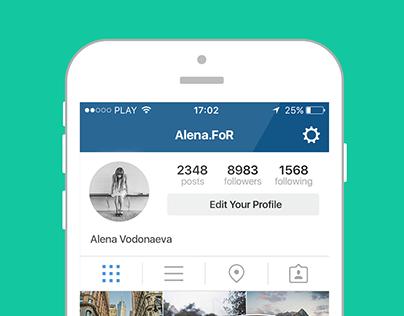 Inst Follow. App Design