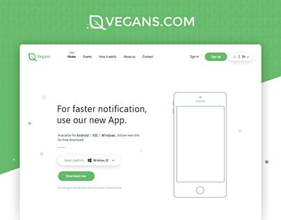 Vegans - Web Application