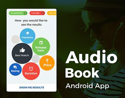 Audio Book Android App UI/UX