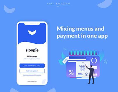 Sloopie app, UX/UI