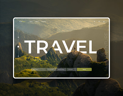 Concept site for travel agency