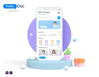 Hello Doc - UX/UI Case Study on Medical App