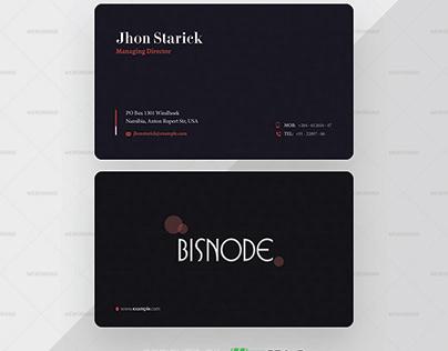 Agency Dark Trendy Business Card Template Premium