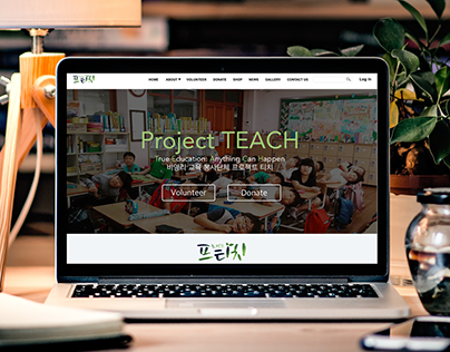 Project Teach Korea Website Design