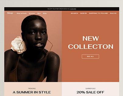Fashion Landing Page Website UI