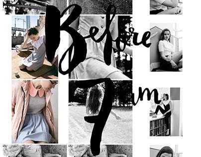 Before 7 am fashion label -Social media visual identity