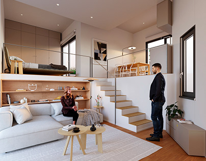 Small terrace apartment