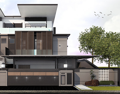 Exterior Visualization   J House