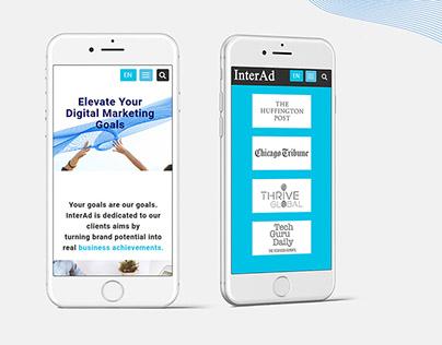 Website UI Design for InterAd