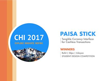 Paisa Stick - Winner of CHI 2017 SDC