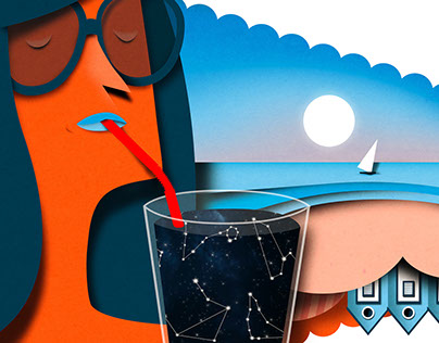 Donna Moderna Editorial illustration.