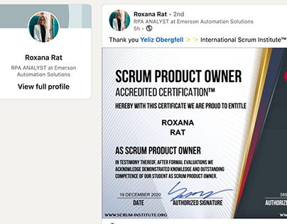 Scrum Institute Certified Scrum Product Owner