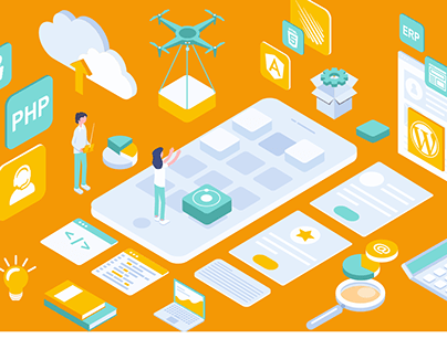isometric illustration website
