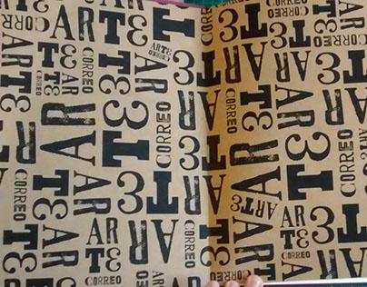 Libro experimental sobre ARTE CORREO (Mail art)