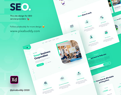 SEO website design concept