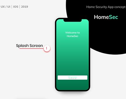 HomeSec - Home Security App Concept