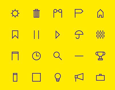 Straw Icon Series