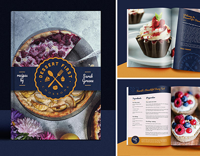 Cookbook - Desserts First - Affinity Publisher Project