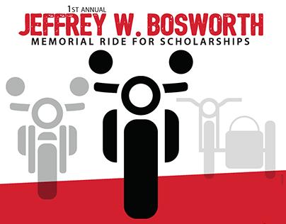 Memorial Ride for Scholarships poster